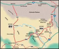 Prescott Arizona Map by Az 89a Prescott To Flagstaff Us Route 89