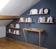 biblioth ue chambre bibliothèque sous pente dans des combles aménagées décoration