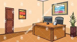 Reception Desk Office Empty Office Reception Desk Vector Background Friendlystock