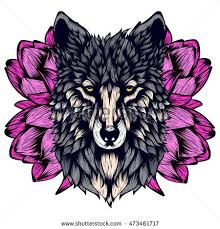 vector illustration graphic elements wolf stock vector