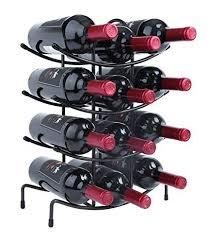 finnhomy 12 bottle wine rack wine bottle holder free standing