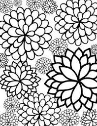 printable large flowers large flower coloring pages free printable bursting blossoms flower