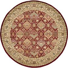 Round Rugs 8 Ft by Home Decorators Collection Masterpiece Red 8 Ft Round Area Rug