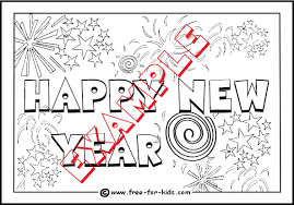 new year colouring pages
