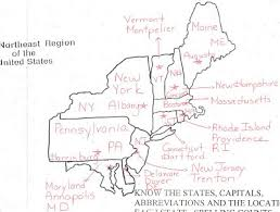 map of northeast us states with capitals states and capitals mr donahue mckelvie intermediate school