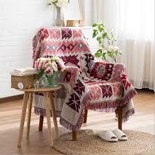 plaid coton canapé plaid coloré couverture coton canapé coussin serviette sofa 130 160