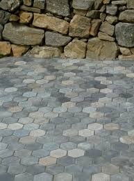 Granite Patio Stones Hexagon Recycled Granite Paver Patio 100 Natural Recycled Stone