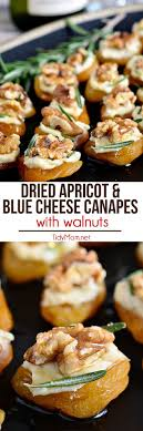 m fr canapes dried apricot and blue cheese canapes with walnuts delicious