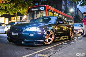 r34 nissan skyline r34 gt r v spec midnight purple pearl ii special