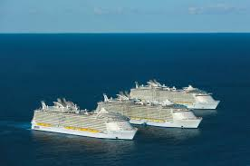 largest ship in the world the three largest cruise ships in the world take time out for a
