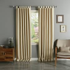 Home Classics Blackout Curtain Panel Aurora Home Tab Top Thermal Insulated 84 Inch Blackout Curtain