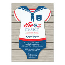 nautical baby shower invitations nautical baby shower invitations announcements zazzle