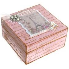 this is a beautiful tea or jewellery box in vintage style made