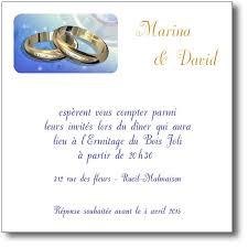 texte invitation mariage carte d invitation mariage alliances or coordonnée au faire part