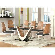 Edge Walnut Dining Set U2013 by Extendable Glass Dining Table And 6 Chairs Dining Room Beautiful