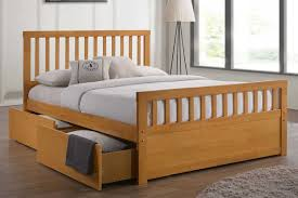 Bed Frame Drawers Delamere Oak Wooden Storage Bed With Drawers King Size