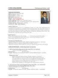 Civil Engineer Resume Example sample cv of civil engineer pakistan engineer