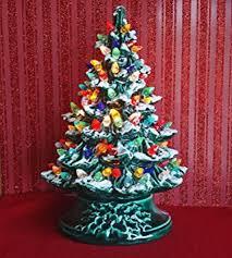 amazon com ceramic christmas tree 16