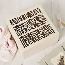 wooden baby keepsake box beauteous personalised circus wooden baby keepsake box