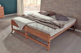 Beech Bed Frame Hasena Storage Lido Modern Guest Bed Head2bed Uk