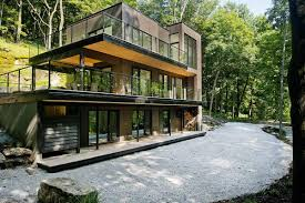 Simple Modern House Designs Wonderful Modern Forest House Design With Solid Building Elements