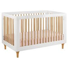 Convertible Cribs With Toddler Rail by Babyletto Lolly 3 In 1 Convertible Crib White And Natural