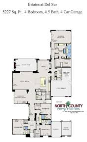 Floor Plans For 2 Story Homes by The Estates At Del Sur Floor Plans San Diego New Homes