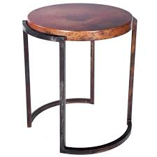 copper top coffee table upper avenue iron end table with copper top
