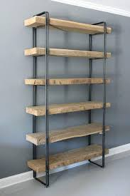 industrial wood bookcase large size of industrial furniture