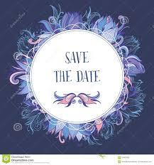 Event Invitation Card Purple And Blue Wedding Event Invitation Card Illustration