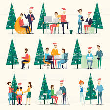 merry christmas and happy new year office stock vector art