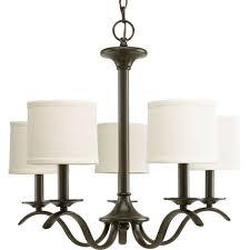 lamp shade for chandelier progress lighting inspire collection 5 light antique bronze