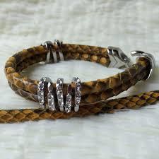 luxury leather bracelet images Genuine black stingray leather bracelet buy high quality jpg