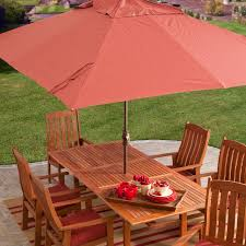 Large Umbrella For Patio Coral Coast 8 X 11 Ft Aluminum Spun Poly Rectangle Patio Umbrella