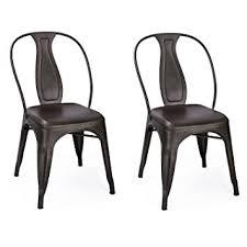 amazon com joveco dark bronze metal stackable indoor outdoor high