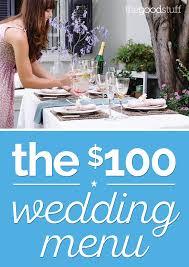 brunch wedding menu a diy wedding menu for just 100 thegoodstuff