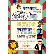 circus invitation boy circus invitations boy printed in colour on
