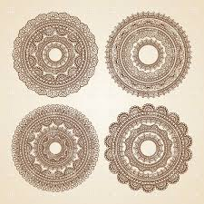 set of lace ornaments vector clipart image 29489 rfclipart