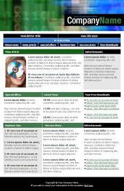 digital company newsletter template templatesbox com