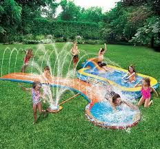 keep cool with the banzai aqua drench 3 in 1 inflatable splash