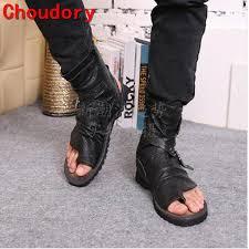 summer motorcycle boots choudory summer toe knob men sandals gladiator men summer motorcycle