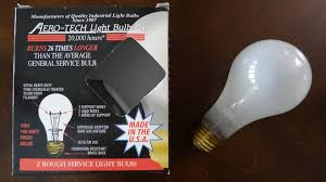 aero tech 150watt frosted light bulbs made in the u s a youtube