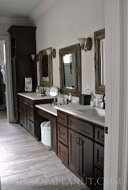 Tall Bathroom Cabinet With Mirror by Best 25 Dark Wood Bathroom Ideas On Pinterest Dark Cabinets