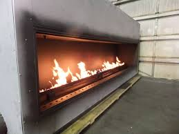 Fireplace Burner Pan by Test Fire Custom Linear Gas Fireplace Acucraft Fireplaces