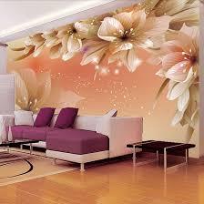 Modern Home Design Wallpaper Aliexpress Com Buy Custom 3d Photo Wallpaper Modern Flower Wall