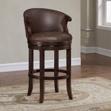 bar stools that swivel american woodcrafters mirelle 30 in dark cherry cushioned swivel