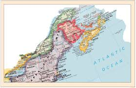 New England On The Map by Maine Bar Harbor