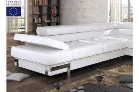 canap d angle convertible blanc canapé d angle convertible design 4 places blanc pomona canapé