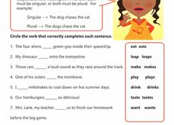 3rd grade subject verb agreement learning resources education com