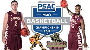 Psac Standings by Gannon University Athletics Gannon Men U0027s Basketball Team To